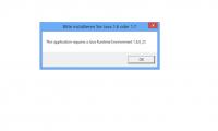 Falls folgender Fehler auftreten sollte, öffnet sich mit Klick auf OK die Downloadseite für Java.
