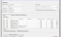 Fügen Sie einzelne Positionen (entspricht Bestandteilen der Baustelle) ganz einfach zur Kalkulation hinzu.